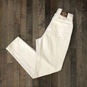 Vintage Express white high waist skinny jeans!